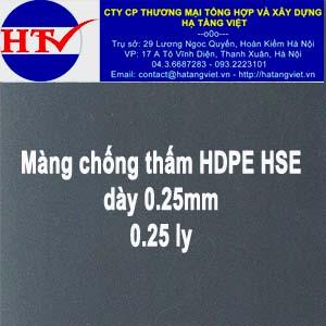 Màng chống thấm HDPE HSE 0.25