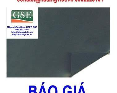 Báo giá màng chống thấm HDPE GSE